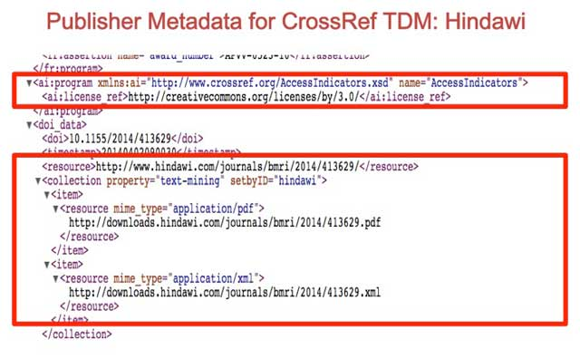 CrossRef Text and Data Mining ...